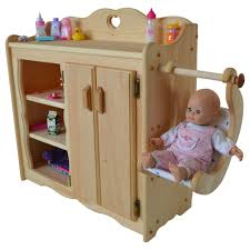 Wood Changing Table Dolly S Changing Table Elves Heirloom Quality Wooden Toys