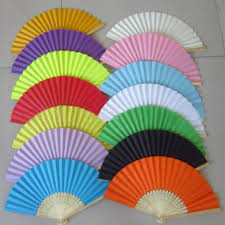 held fans bulk new summer style paper fans pocket folding bamboo fan