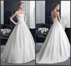 2016 custom strapless wedding dresses white cheap ball gowns bride