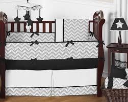 Black And White Chevron Bedding Gray And Black Chevron Zig Zag Baby Bedding 9pc Crib Set By