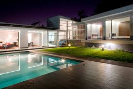 outdoor house aveleda s house exterior design night view stylehomes net