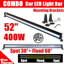 Cheapest Led Light Bars by 52 U0027 U0027 400w Led Light Bar Spot Flood Combo Beam Work Light For