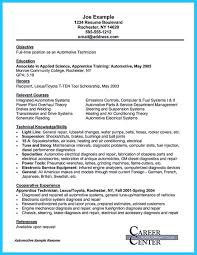 exle of a chronological resume writing your great automotive technician resume