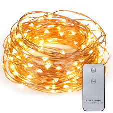 Battery Operated Christmas String Lights by Amazon Com Kohree 120 Leds Battery Operated String Light 20ft