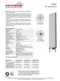 kathrein 742 237 antenna radio electrical engineering