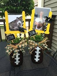 football centerpieces used centerpieces football center for high school graduation