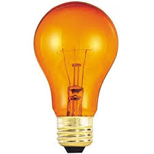 Light Bulbs International 25 Watt A19 Transparent Amber Light Bulb Incandescent Bulbs