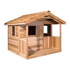 cedar shed log cabin cedar playhouse hayneedle