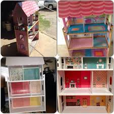 Dollhouse Furniture Kitchen Diy Garage Sale Kidkraft Wooden Dollhouse Makeover Dollhouse