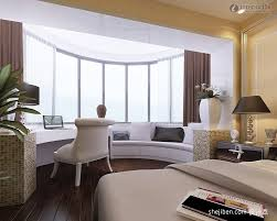 Modern Bay Window Curtains Decorating Bedroom Exclusive Modern Bedroom With Curved White Bay Window