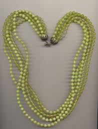 beaded necklace clasps images Multi strand plastic imitation bead necklace made in different jpg