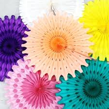 hanging paper fans hanging paper flower decorations 5 hot pink tissue paper fan
