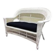 furniture gemma wicker loveseat for charming home furniture ideas