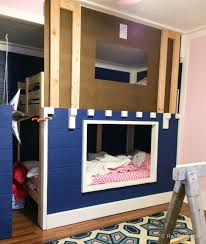 Plans For Building Built In Bunk Beds by Awesome Kid U0027s Bunk Bed Playhouse