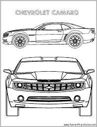 stylish decoration camaro coloring pages mustang car printable