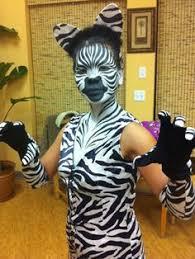 Halloween Costumes Zebra Zebra Model Body Paint Hair Show Inspiration
