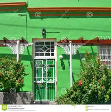 Painted Houses Green Painted House With White Window In Bo Kaap Cape Town