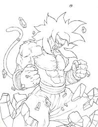 ball z super saiyan 4 coloring pages