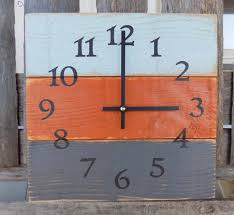 primitive rustic home decor rustic white wood wall clock farmhouse clock primitive home
