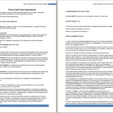 land lease agreement free agreement templates