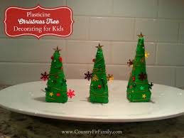 plasticine christmas tree decorating activity for kids country