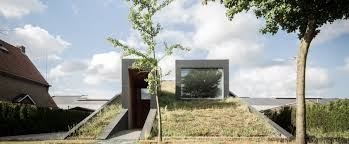 Landscape House Sloped Flowering House Emerges From The Landscape In Belgium