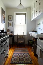 Galley Kitchen Rugs 33 Small But Stylish Galley Kitchens Marble Buzz