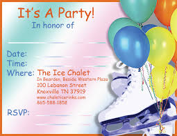 birthday party rsvp ice chalet birthday parties and groups