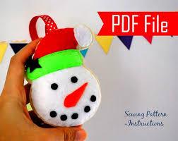 snowman ornament sewing pattern a872 the pattern hub