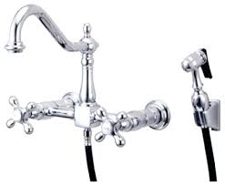 wall mount kitchen faucets with sprayer traditional wall mounted kitchen taps kitchen enthralling fresh