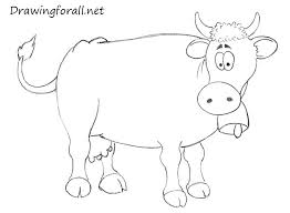 how to draw a cow for kids drawingforall net