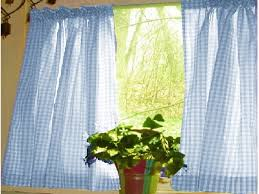 Ruffled Kitchen Curtains Blue Ruffled Kitchen Curtains Http Latulu Info Feed