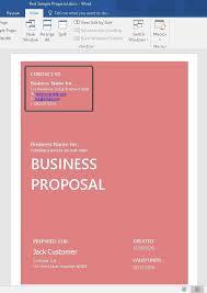 microsoft business proposal template business proposal template