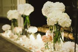 hydrangea wedding centerpieces wedding reception hydrangea centerpieces so fleurs white