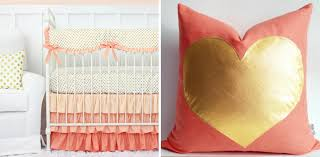 Pink And Gold Nursery Bedding 2015 Nursery Color Trends Project Nursery