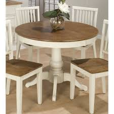 Jofran Vintage White  Inch Round Dining Table Flap Stores - Antique round kitchen table