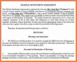 8 marital settlement agreement form marital settlements information