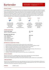 Bartender Resume Examples by Sample Resume Bartender Waitress Bartender Resume Template