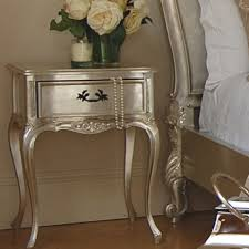Silver Leaf Nightstand Verona Silver Leaf Bedside Table For The Home Pinterest