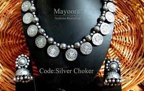 silver necklace from india images Necklace sets oxidised silver terracotta jewellery retail shop jpg