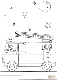 fire truck in action coloring page free printable coloring pages