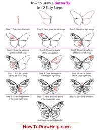 how to draw a beautiful butterfly how to draw a butterfly on a