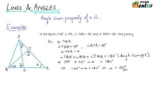 9 6 10 angle sum of a triangle and external angle example 1