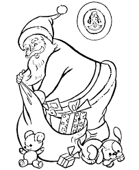 coloring pages santa claus kids coloring