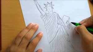 how to draw a statue of liberty youtube