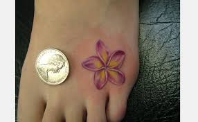 Flower Tattoo Designs On Feet - nice hawaiian flower tattoo on foot inspire me pinterest