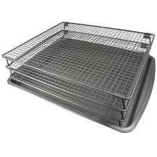amazon com weston nonstick 3 tier drying rack and baking pan 07
