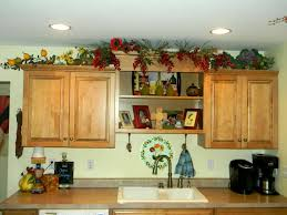 Kitchen Cabinet Decorating Ideas Decorating Above Kitchen Cabinets Before And After Pictures And