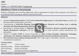 Resume For Mechanical Fresher Linked Profile Samples For Professionals Graduates Freshers All