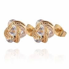cc earrings gold filled earring cc brand new jewellery gold color